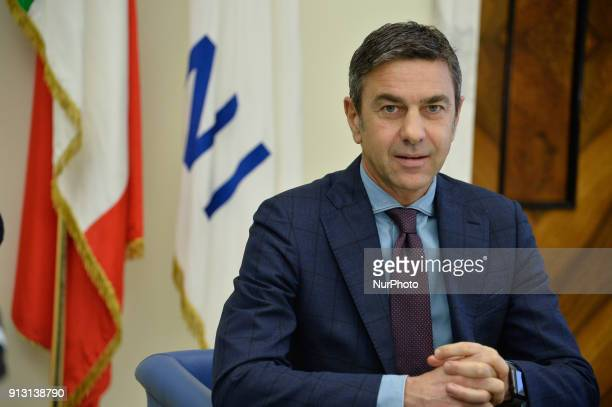 New deputy commissioner FIGC Alessandro Costacurta during postcongress meeting of the CONI National Council on february 01 2018 in Rome Italy