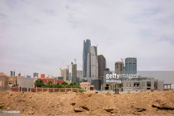 New development stands during construction near the King Abdullah Financial District in Riyadh, Saudi Arabia, on Tuesday, May 19, 2020. Hit...