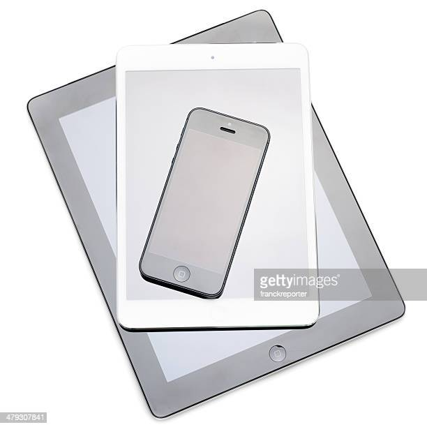 New devices on white background