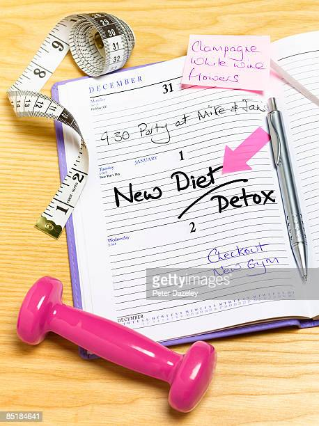 New diet and detox in diary