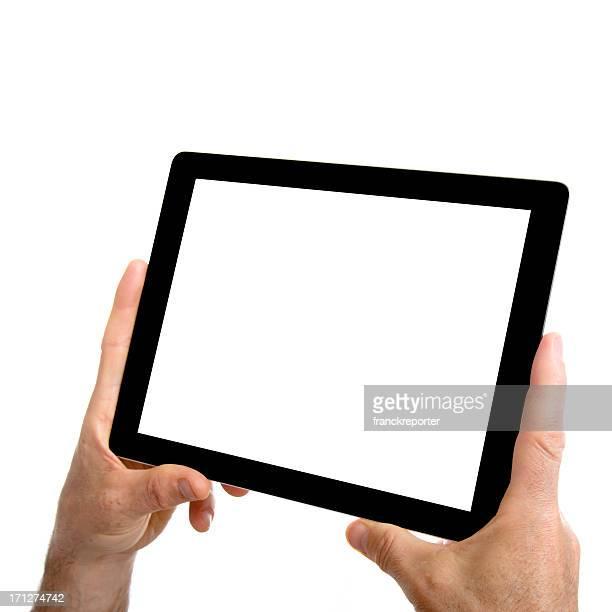 New digital tablet on white background
