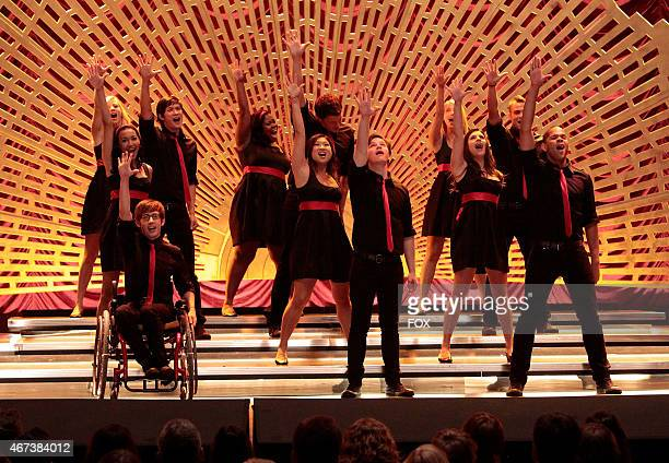 """New Directions perform at sectionals in """"Sectionals,"""" the fall finale episode of GLEE airing Wednesday, Dec. 9 on FOX. Pictured back row L-R: Heather..."""