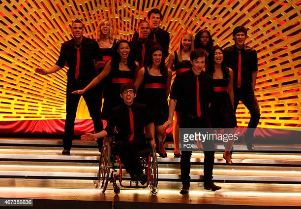 """New Directions perform at sectionals in """"Sectionals,"""" the fall finale episode airing Wednesday, Dec. 9 on FOX. Pictured back row L-R: Mark Salling,..."""