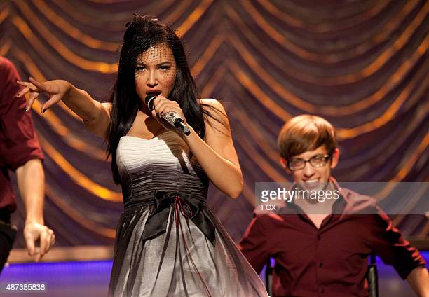 """New Directions perform at Sectionals in the """"Special Education"""" episode of GLEE airing Tuesday Nov. 30 on FOX. Pictured L-R: Naya Rivera and Kevin..."""