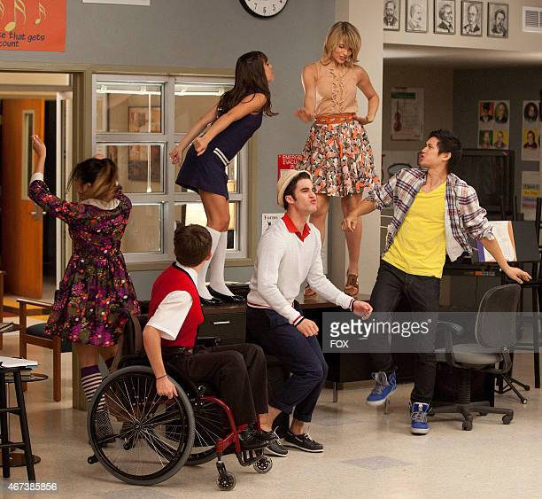 """New Directions perform in choir class in the """"Pot O' Gold"""" episode of GLEE airing Tuesday, Nov. 1 on FOX. Pictured L-R: Jenna Ushkowitz, Kevin..."""