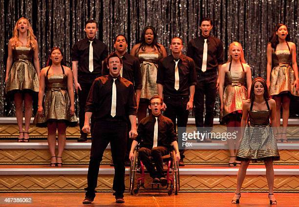 """New Directions perform in the """"Journey"""" season finale episode of GLEE airing Tuesday, June 8 on FOX. Pictured front row L-R: Cory Monteith, Kevin..."""