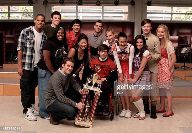 New Directions win sectionals in Sectionals the fall finale episode of GLEE airing Wednesday Dec 9 on FOX Pictured back row LR Dijon Talton Cory...