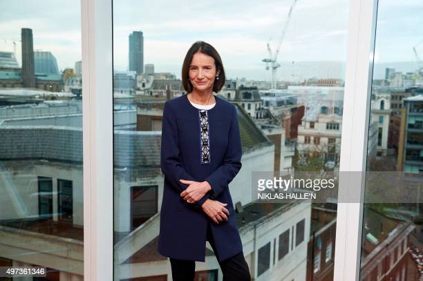 New DirectorGeneral of The Confederation of British Industry Carolyn Fairbairn poses for a photograph during a photocall in central London on...