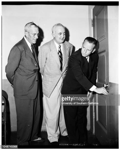 New District Attorney's Office in El Monte 19 May 1952 Supervisor Herbert C LeggDistrict Attorney Ernest RollDeputy District Attorney Richard S...