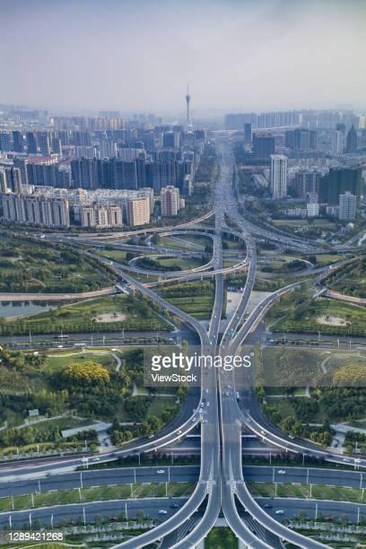 new district of zhengzhou city of henan province building scenery - 鄭州市 ストックフォトと画像