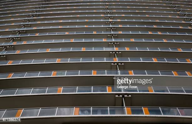 New downtown highrise glass and steel condominiums and office spaces have recently been constructed along 5th and 6th Streets as viewed on April 14...