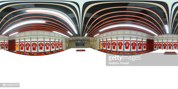 A new dressing room at Liverpool is unveiled at Anfield on March 31 2017 in Liverpool England