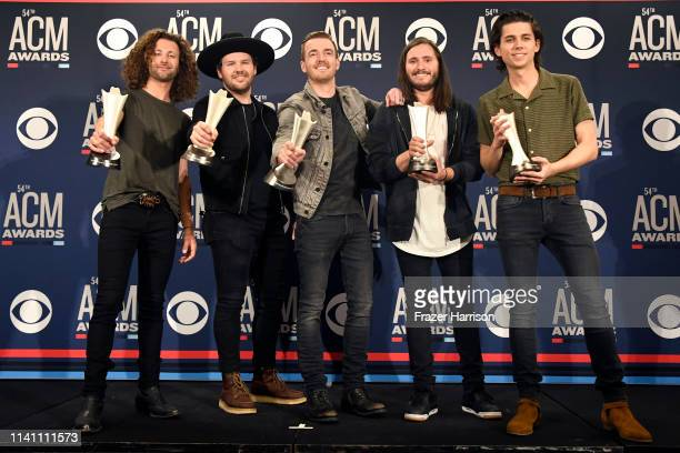 New Duo or Group of the Year award winner Lanco poses in the press room during the 54th Academy Of Country Music Awards at MGM Grand Garden Arena on...