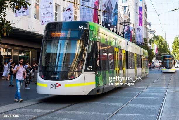 New E Class Trams in Melbourne, Australia.