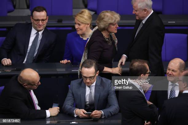 New Economy and Energy Minister Peter Altmeier new Foreign Minister Heiko Maas new Finance Minister Olaf Scholz new Health Minister Jens Spahn new...
