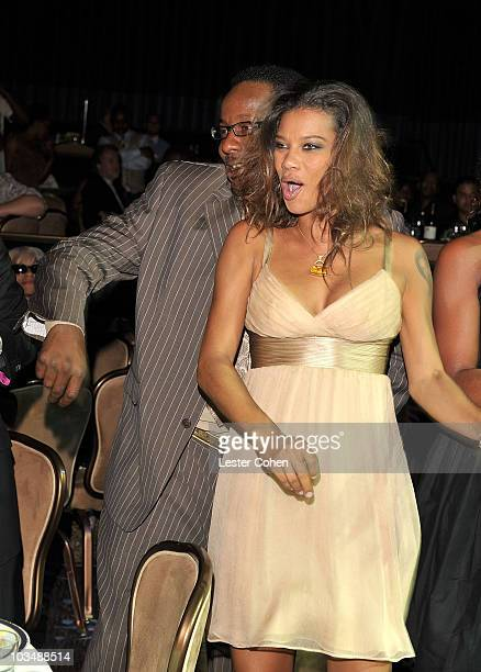 New Edition's Bobby Brown and Alicia Etheridge dance in the audience at the 2008 ASCAP Rhythm and Soul Awards at the Beverly Hilton Hotel on June 23...
