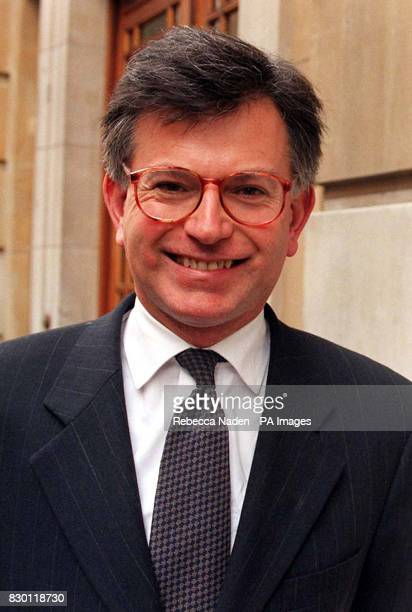 New Education Minister of State in charge of school standards Stephen Byers outside the Department of Education and Employment in central London...