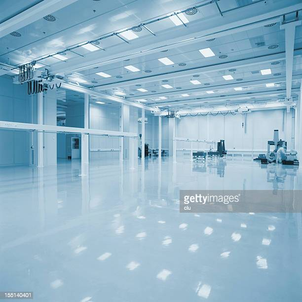 new empty industrial hall - commercial cleaning stock photos and pictures