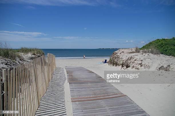 New England Beach in summertime