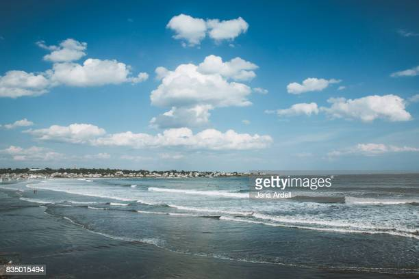 new england beach - blue film images stock photos and pictures