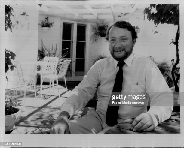 Joe Horan at his electorate office Joe is the ALP Candidate fir the New England Electorate Joes House and office is in Tamworth November 14 1984