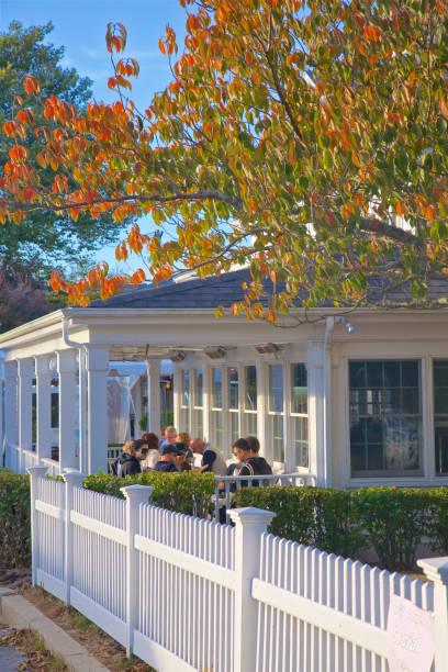 New England elegant outdoor dining at Wild Goose Tavern, Chatam