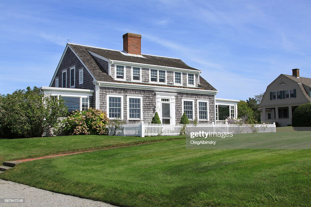 New England House With Grey Shingles Chatham Cape Cod