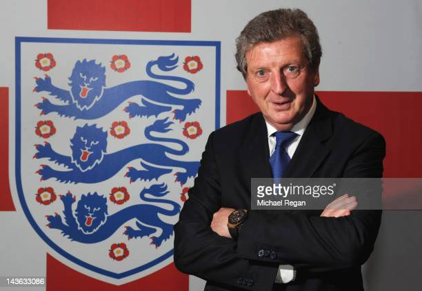 New England manager Roy Hodgson poses after a press conference at Wembley Stadium on May 1, 2012 in London, England.