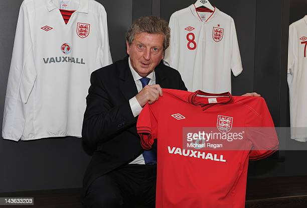 New England manager Roy Hodgson poses after a press conference at Wembley Stadium on May 1 2012 in London England
