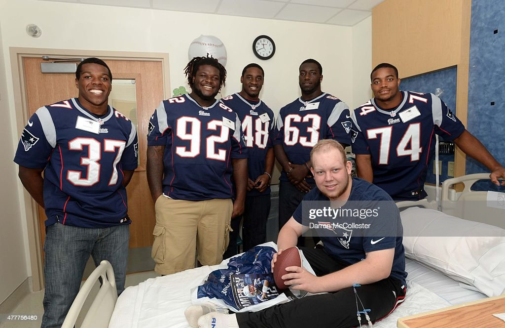 New England Patriot Rookies Spread Cheer To Patients At Boston Children's Hospital