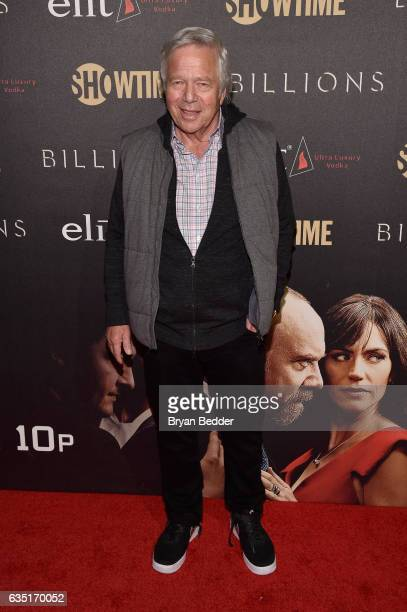 New England Patriots CEO Robert Kraft attends the Showtime and Elit Vodka hosted BILLIONS Season 2 premiere and party held at Cipriani's in New York...