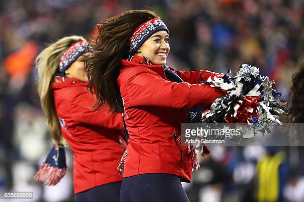 New England Patriots Cheerleaders perform during the game against the Baltimore Ravens at Gillette Stadium on December 12 2016 in Foxboro...