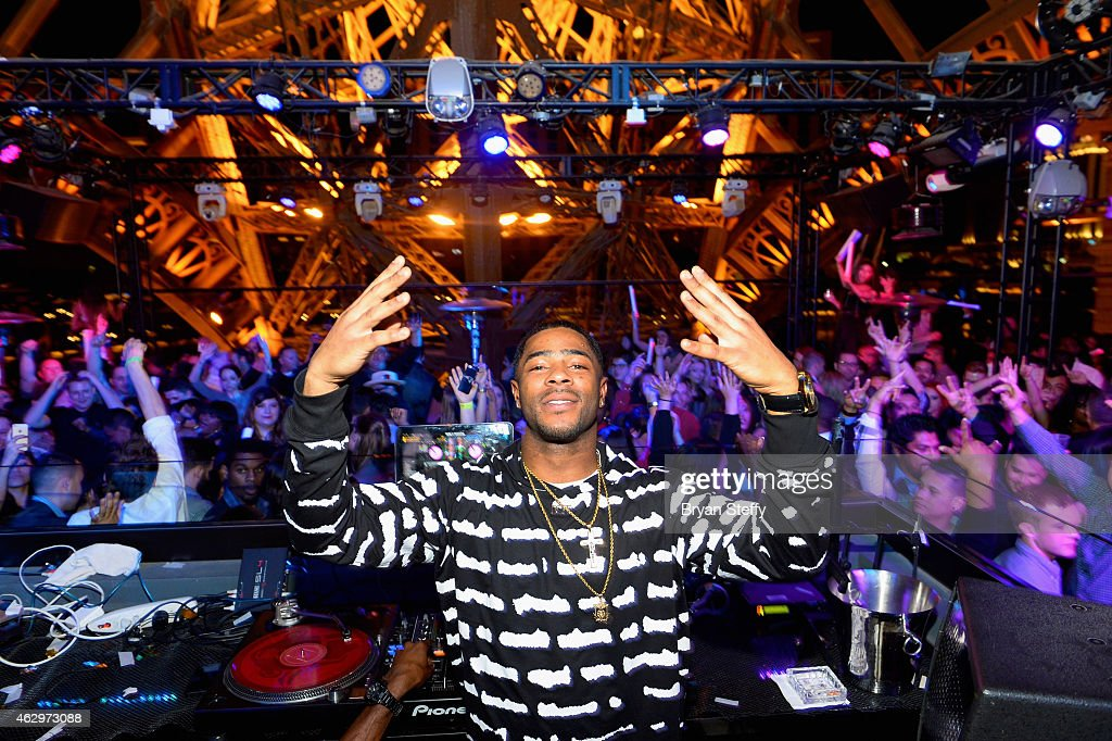 New England Patriots Cornerback Malcolm Butler Celebrates His Game Winning Interception at Chateau Nightclub & Rooftop at Paris Las Vegas