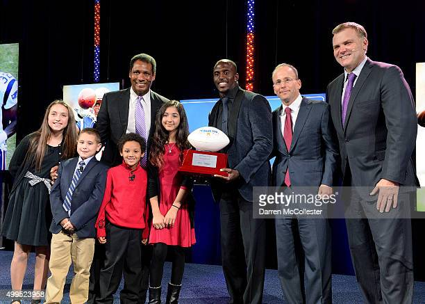 New England Patriots Devin McCourty receives the Champion Award at Champions For Children's benefitting Boston Children's Hospital at the Seaport...