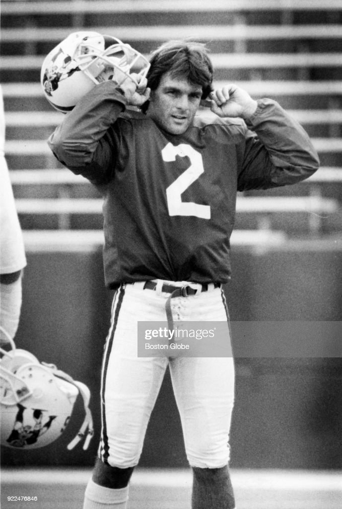 New England Patriots Doug Flutie reacts to crowd noise during practice in Foxborough, Mass., Oct. 21, 1988.