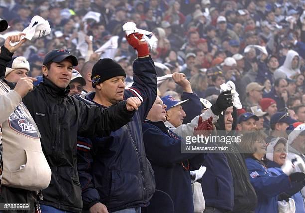New England Patriots fans celebrate a victory over the New York Jets an NFL wild card playoff game Jan 7 2007 in Foxborough The Pats won 37 16