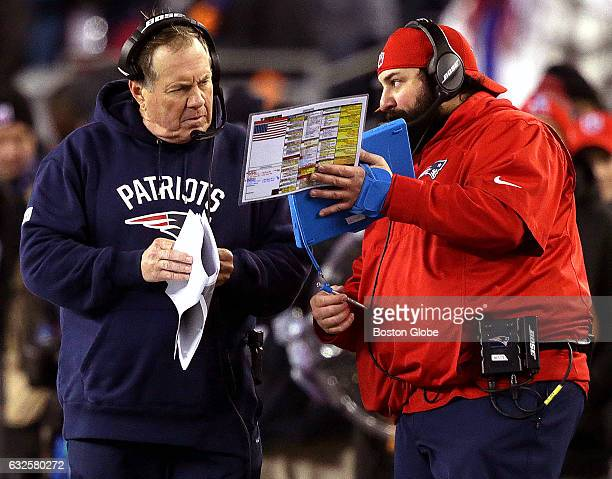New England Patriots head coach Bill Belichick and New England Patriots defensive coordinator Matt Patricia The New England Patriots host the...
