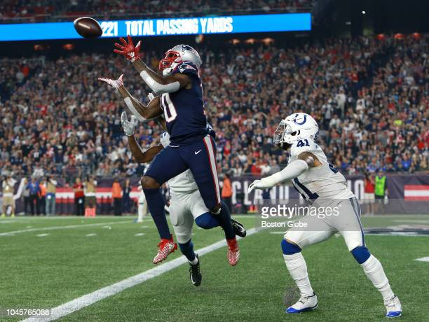 New England Patriots' Josh Gordon makes the catch for a touchdown in the fourth quarter The New England Patriots host the Indianapolis Colts in a...