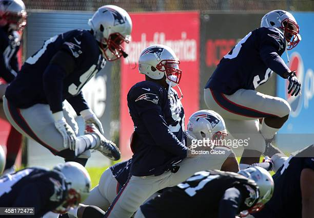 New England Patriots linebacker Johnathan Casillas is pictured at Patriots practice in Foxborough Mass