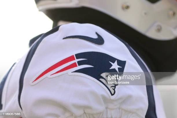 New England Patriots logo during the game against the New England Patriots and the Cincinnati Bengals on December 15th 2019 at Paul Brown Stadium in...