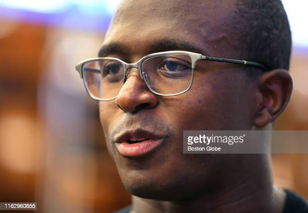 New England Patriots' Matthew Slater speaks to reporters before New England Patriots practice at Gillette Stadium in Foxborough MA on Aug 20 2019