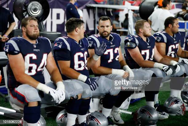 New England Patriots offensive lineman Matt Tobin New England Patriots offensive lineman James Ferentz New England Patriots offensive lineman Luke...
