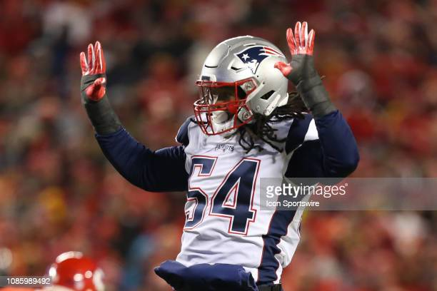 New England Patriots outside linebacker Dont'a Hightower in the second quarter of the AFC Championship Game game between the New England Patriots and...