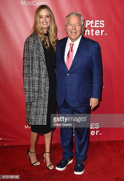 New England Patriots Owner Robert Kraft and Ricki Lander attend the 2016 MusiCares Person of the Year honoring Lionel Richie at the Los Angeles...