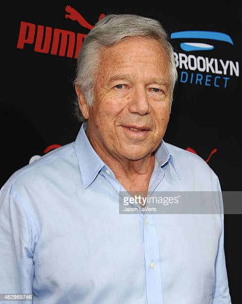 New England Patriots owner Robert Kraft attends the Roc Nation Grammy brunch on February 7 2015 in Beverly Hills California