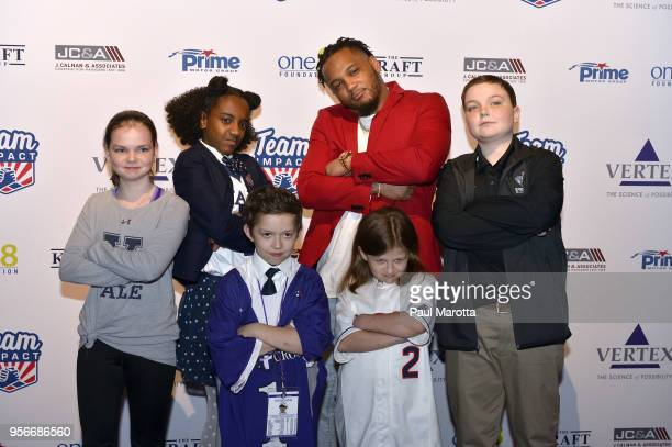 New England Patriots player Patrick Chung attends the 2018 Team Impact Game Day Gala at Seaport World Trade Center on May 9 2018 in Boston...