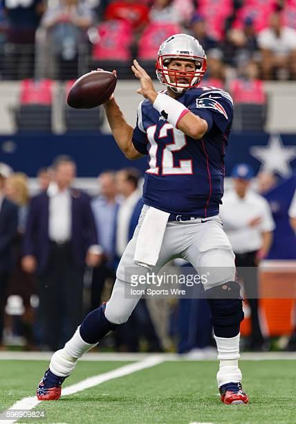 New England Patriots Quarterback Tom Brady [4012] during the NFL game between the New England Patriots and Dallas Cowboys at ATT Stadium in Arlington...