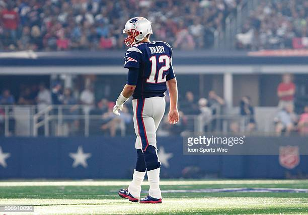 New England Patriots Quarterback Tom Brady [4012] waits on a measurement during the NFL game between the New England Patriots and Dallas Cowboys at...