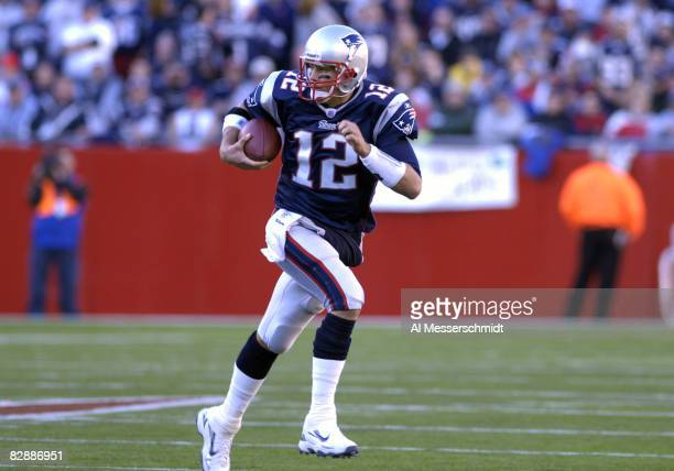 New England Patriots quarterback Tom Brady against the New York Jets during an NFL wild card playoff game Jan 7 2007 in Foxborough The Pats won 37 16