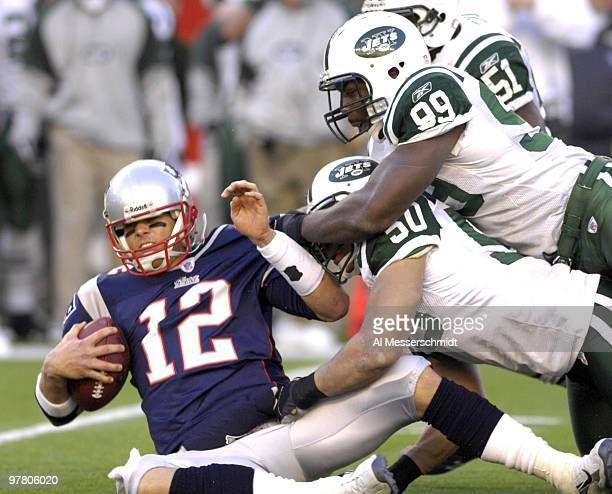 New England Patriots quarterback Tom Brady against the New York Jets an NFL wild card playoff game Jan 7 2007 in Foxborough The Pats won 37 16